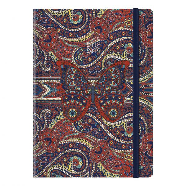 letts 2018 2019 paisley weekly appointment bookacademic planner sewn binding a5 week to view diary august 2018 to july 2019 assorted designs
