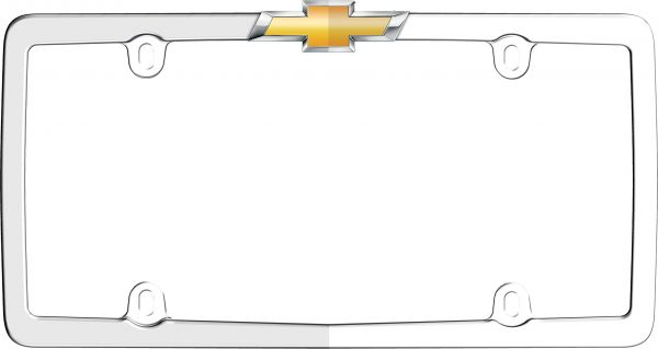 Cruiser Accessories 10437 Chrome/Gold \'Chevy\' License Plate Frame ...
