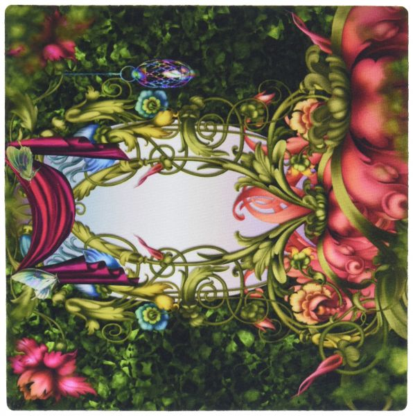 3dRose LLC 8 X 025 Inches Mouse Pad Fairy Mirror Gardens Flowers Land Beautiful Fantasy Backgrounds Mp 52204 1