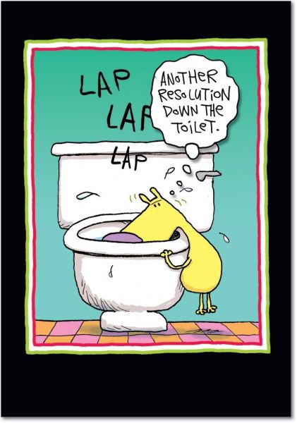 Souq 5805 resolution down the toilet funny new year greeting 5805 resolution down the toilet funny new year greeting card with 5 x 7 envelope by nobleworks m4hsunfo