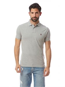 huge selection of 1877a a0815 Polo Ralph Lauren Grey Shirt Neck Polo For Men