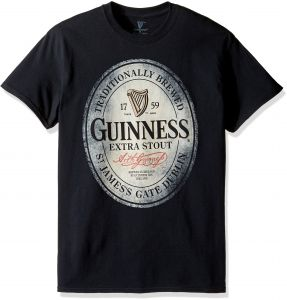 guinness mens big and tall traditionally brewed t shirt black 4xl