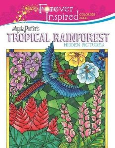 Forever Inspired Coloring Book Angela Porters Tropical Rainforest Hidden Pictures