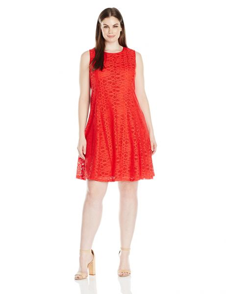Buy Tiana B Womens Plus Size Crochet Lace Dress With Contrast