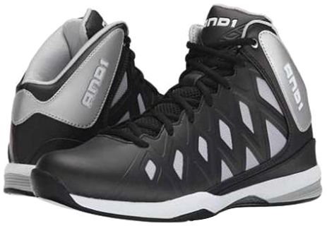 40761034ab2 AND1 Unbreakable Mid Basketball Shoes for Kids - Black   Silver