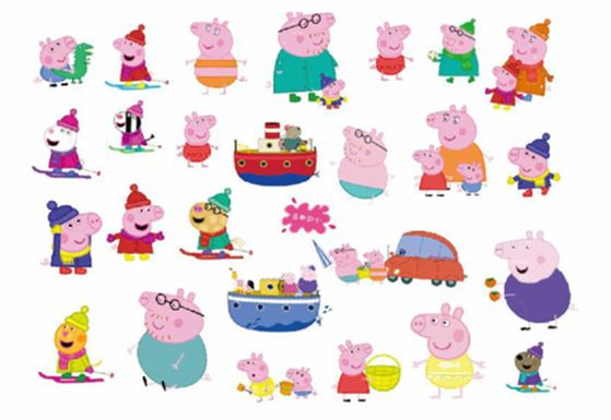 Kids Temporary Tattoos Stickers Peppa Pig Body Art Removable Waterproof Party