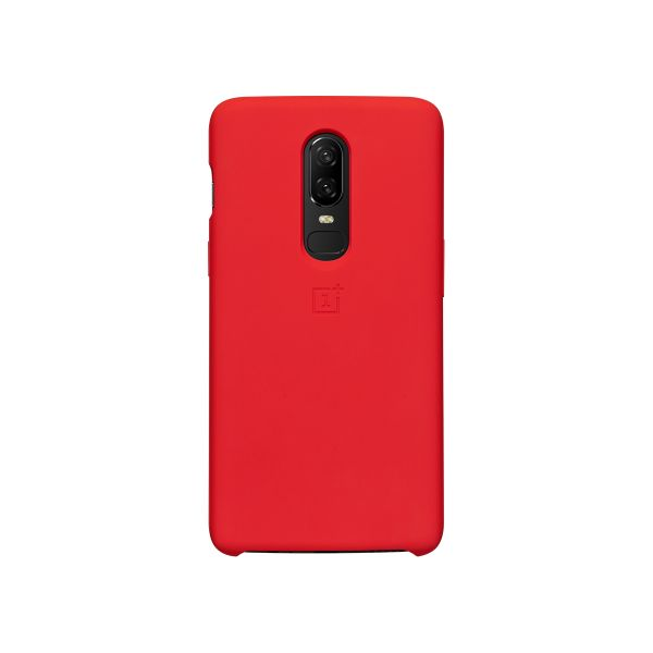 premium selection d1223 d9dbc OnePlus 6 Silicone Protective Case - Red
