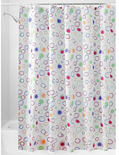 InterDesign Doodle Fabric Shower Curtain Extra Long Polyester