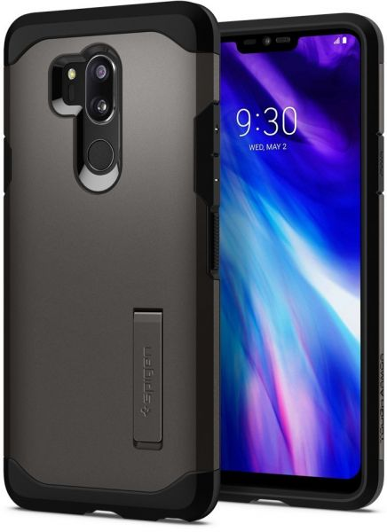lowest price ff816 d8f7a Spigen LG G7 ThinQ Tough Armor kickstand Gun Metal cover / case - Gunmetal