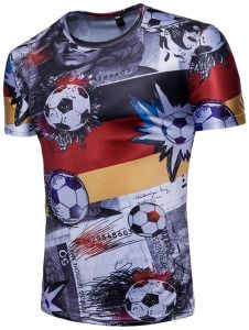 Men s Clothing T-Shirt Green T Shirt World Football Cup Fans Camisetas  Footballs Print Short-sleeve Tshirts 1564dbb180b7e