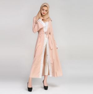 Casual Abaya For Women - Pink