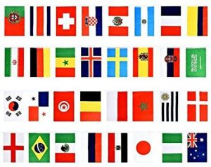 5192009c4 2018 FIFA World Cup flags,Russia Soccer Football flag,Extra Large Size 32  Country flag Bunting for Bar Party,Fans,Sport Clubs Decorations