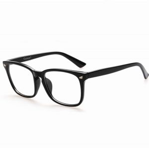 df05847604 Cyxus Blue Light Blocking Unisex Clear Lens Eyewear Computer Glasses Anti  UV Anti Eye Eyestrain Classic Black Frame