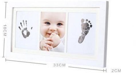 Souq | Baby Handprint and Footprint Frame Package - Baby Prints ...