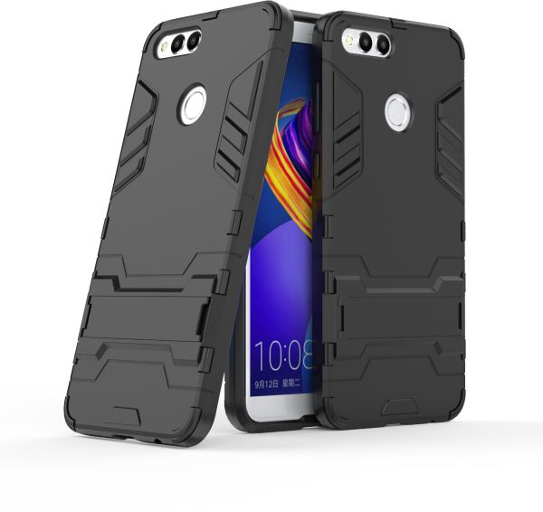 check out 29bbb a68b0 Honor 7X Iron Man Case With Stand Back Cover - Black