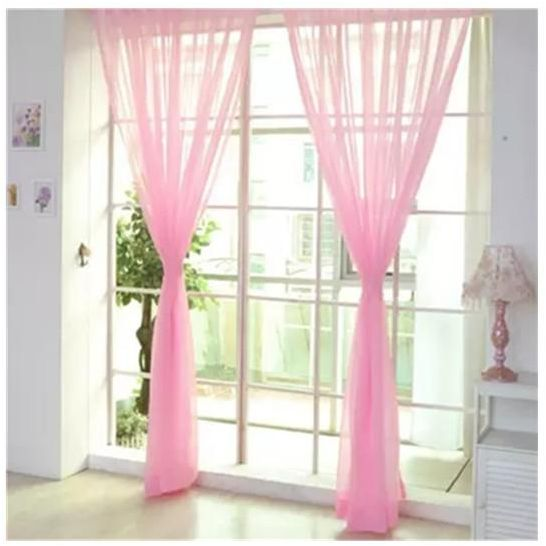 1x2 7m Curtains Pink Long For Bedroom Window Curtain Panels Living Room Voile D Wedding Souq Uae