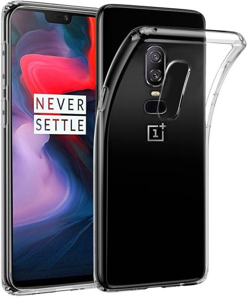 size 40 94c36 908e7 Oneplus 6 Silicone Cover Clear Transparent Soft TPU Case By Muzz