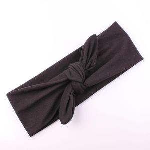8c27076aafd Women Girl Rabbit Ears Headband Solid Color Bow Hair band Turban Knot Head  wrap Hair Band Accessories For Fashion and Sports