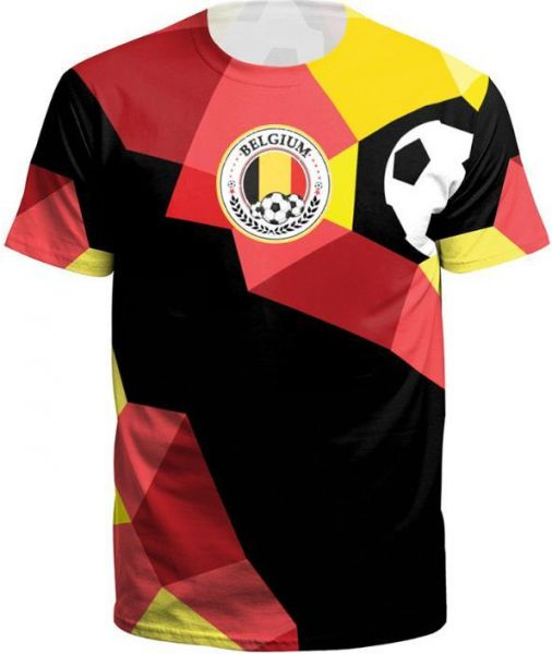 5bbb53f2c21 World Cup Soccer short sleeve Belgium printed Leisure T-shirts -L | Souq -  UAE