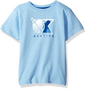 659c0831270 Nautica Little Boys  Short Sleeve Logo Graphic T-Shirt