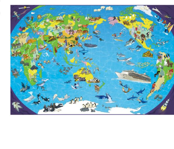 Children Adult Educational Plane puzzle World Map Pattern Jigsaw ...