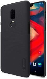 Oneplus 6 Nillkin Super Frosted Shield Matte Cover Back Case with free screen protector