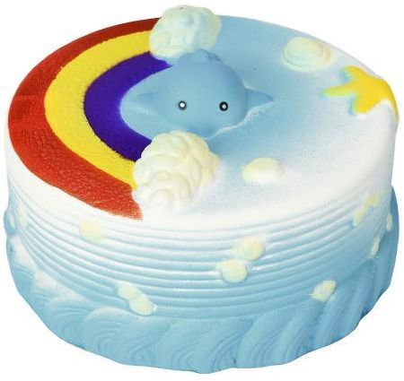 Cute Kawaii Soft Squishy Rainbow Cake Toy Slow Rising For Kids