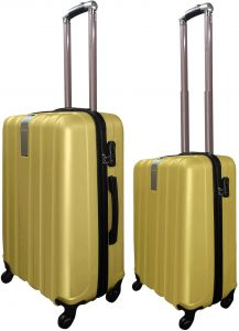 72fbbd38c7c5 Highflyer 1613 20inch and 24inch 2PC ABS Trolley Luggage Travel Set- Gold