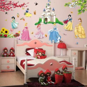 princess birds flower castle wall stickers home decor for kids rooms rh uae souq com