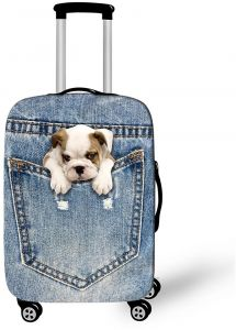 fc9b94753 Puppy in Jeans Luggage Cover Medium