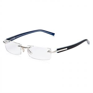 4889d5f28ae Tag Heuer Rimless Glasses Frame for Men - Blue