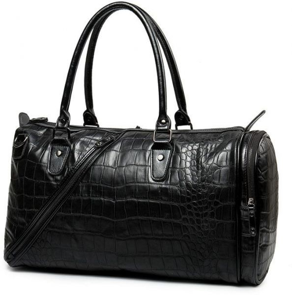 3f0962c310b Leather Duffle Bag For Unisex,Black - Fashion Duffle Bags. by Other ...