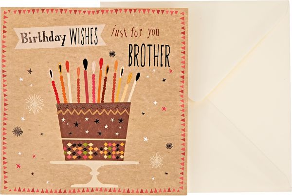 JG Greeting Cards Birthday Wishes Brother Card