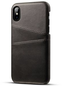 Cover / Cover iPhone X from the company Aobang from the outside leather and inside velvet attached to an internal metal piece of magnet