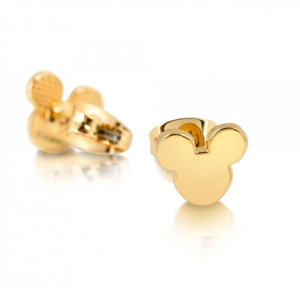 Disney Gold Plated Mickey Mouse Head Stud Earrings