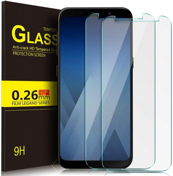 new arrival 67b2f 0e84a [2 Pack] Samsung Galaxy J8 2018 Screen Protector 9H Hardness HD Tempered  Shockproof Glass