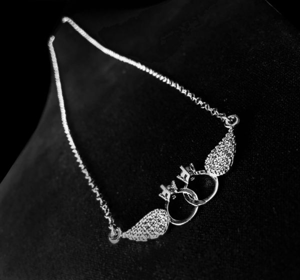 12a8129e9b706 Tiffany Wings Platinum Plated Necklace For Girls | KSA | Souq