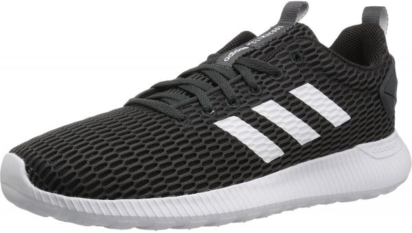 f4ab87c01861 adidas Cloudfoam Lite Racer CC Running Shoes for Men - Black   White ...