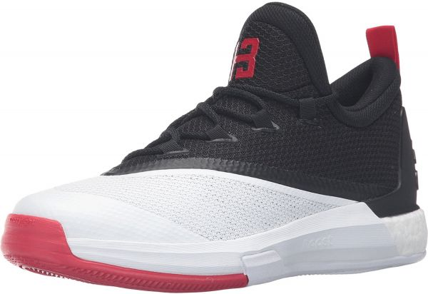 846583b88ef22 adidas Crazylight Boost 2.5 Low Fashion Sneakers for Men - Black & White