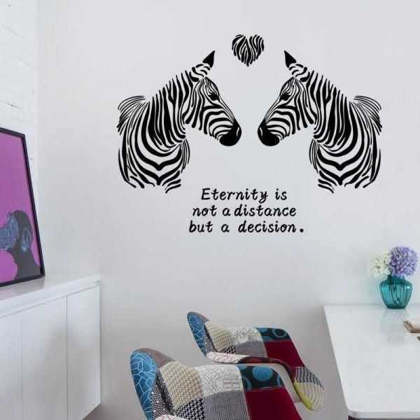 love zebra fashion bedroom entrance hall living room decoration wall