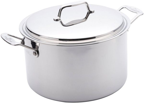 USA Pan Cookware 5 Ply Stainless Steel 8 Quart Stock Pot With Cover 1520 CW