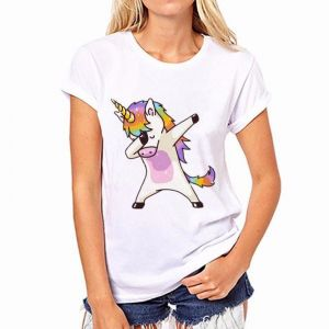 6933f65506 Size S Unicorns T-Shirt Women Cute Cartoon Horse Printed Tshirt Soft Short  Sleeve Women White Tops for Girls