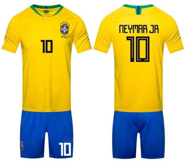 2018 Russia World Cup Football Jersey Brazil Team No.10 Neymar Football  suits Short-sleeved T-shirt - M code  afaceb686