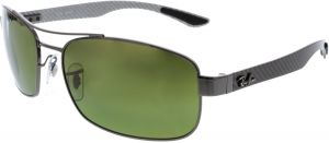 138fd3b34c Ray-Ban Rectangle Unisex Sunglasses - RB8318CH-004/60-62 - 64-19-133mm