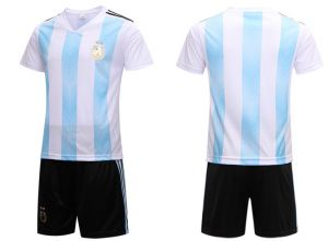 becb7c226 2018 FIFA Russia World Cup Soccer Argentina Team Jersey short-sleeved T-shirt  M code