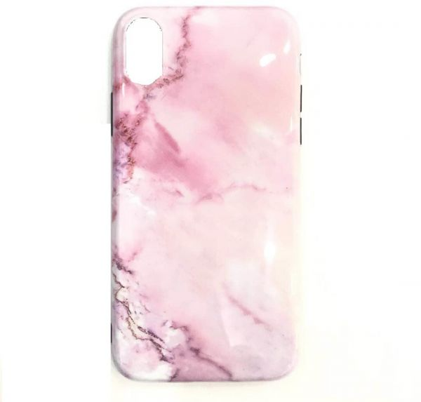 iPhone X case plastic soft shell Glossy Marble pattern | Souq - UAE