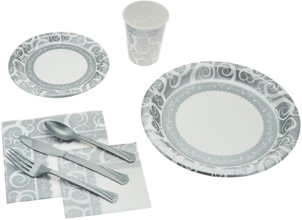 This item is currently out of stock  sc 1 st  Souq.com & Souq | 241 Piece Disposable Dinnerware Set - Paper plates Cups ...