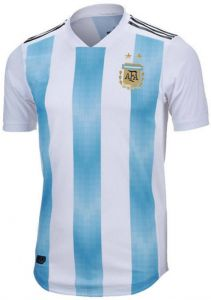 save off 17ad9 98d12 2018 FIFA World Cup Soccer Argentina Soccer Soccer Jersey Messi Fan Short  Sleeve T-Shirt - Size L