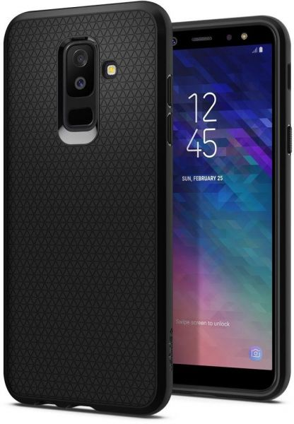 Spigen Samsung Galaxy A6 Plus 2018 Liquid Air Cover Case Black