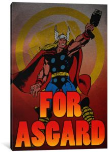 0f538525d70e iCanvasART 1-Piece Marvel Comic Book Thor Tagline  For Ascard Canvas Print  by Marvel Comics